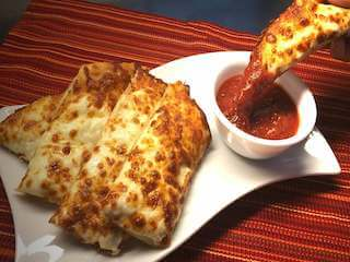 dinos pizza of blue mound texas cheesy bread