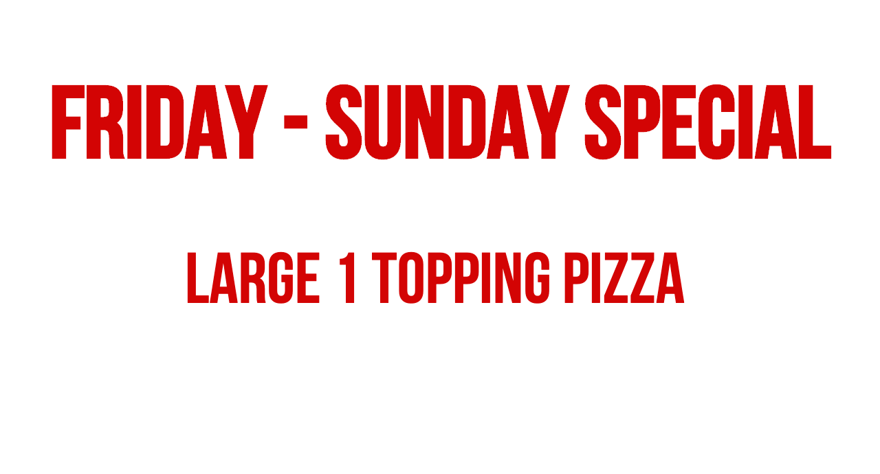 dinos pizza of blue mound texas friday through sunday special