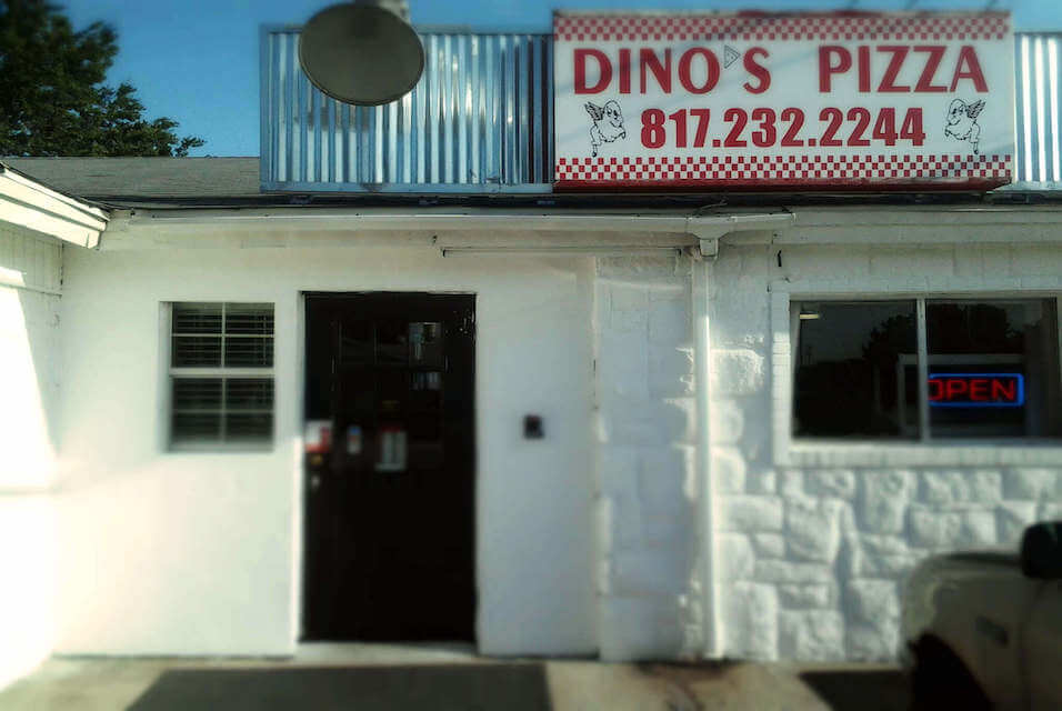 dinos pizza of blue mound texas storefront